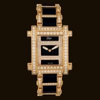 Contact Gold Dial1 Diamond Rubber Bracelet